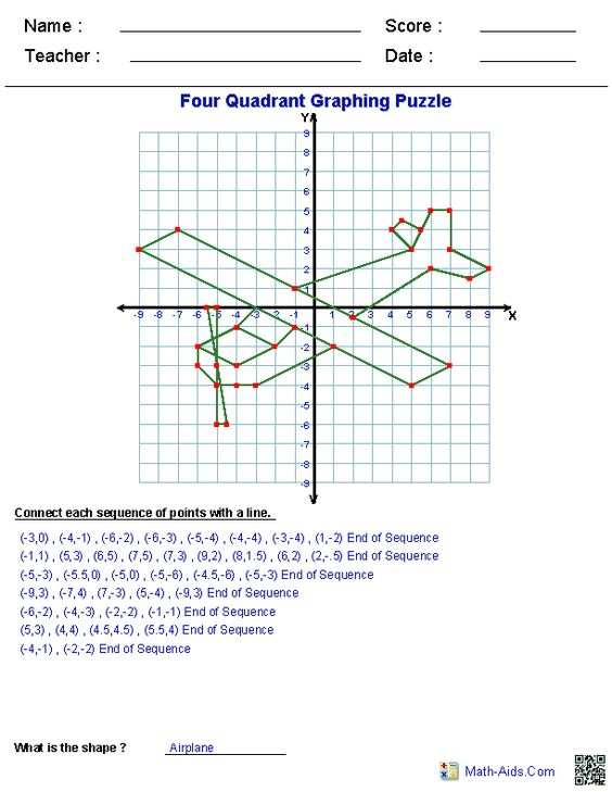 math worksheet : four quadrant graphing puzzle worksheets  education  pinterest  : Free Math Worksheet Site