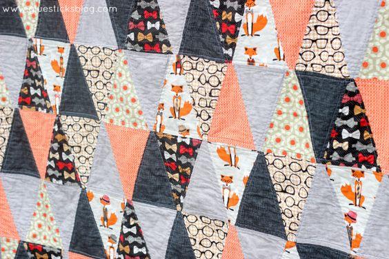 Fantastic Mr. Fox Triangle Quilt | Gluesticks