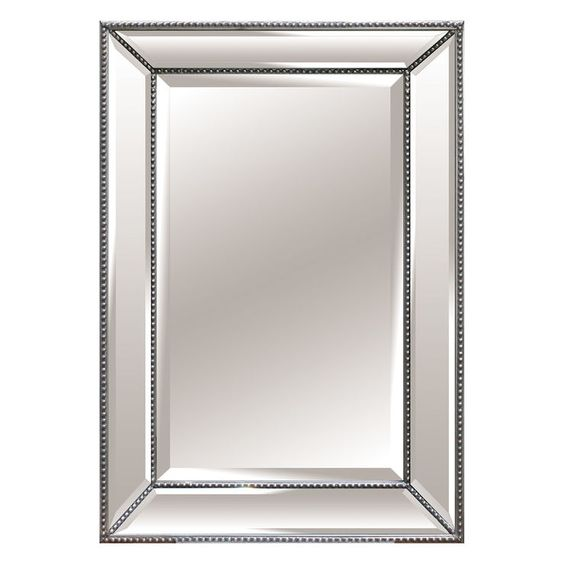 Superb 32 X 48 Mirror Part - 2: 32 X 48-in Beaded Beveled Mirror
