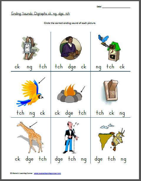 Printables List Of Words With Tch ending sounds digraphs ck ng dge tch learning free worksheets and google