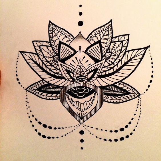 Tatouage fleur de lotus mandala - Fleur de lotus mandala ...