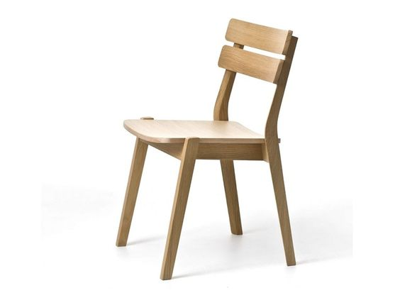 Stackable beech chair Frame Collection by Very Wood  design Paola Navone