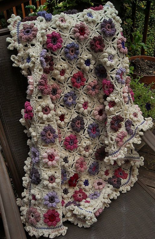 Ravelry: Afghaniac's Orchid and Lilac Blankie: