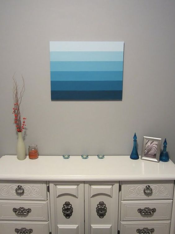 "DIY ""Ombre"" Canvas Artwork - ScotchBlue Painting Party:"