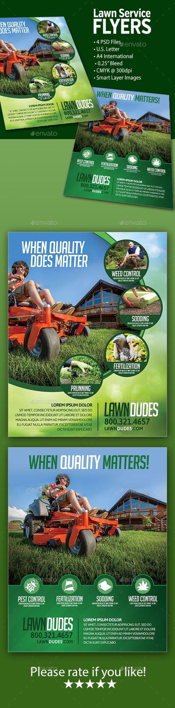 lawn service flyers flyer template lawn service and flyers lawn service flyers template graphicriver net item