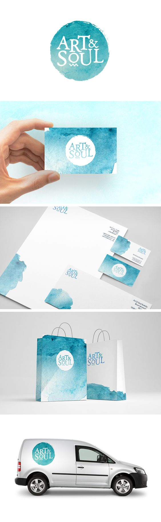 Inspired by the company's coastal routes, Art & Soul needed a fun and creative brand that helped promote their dynamic art courses. #logo #branding #design