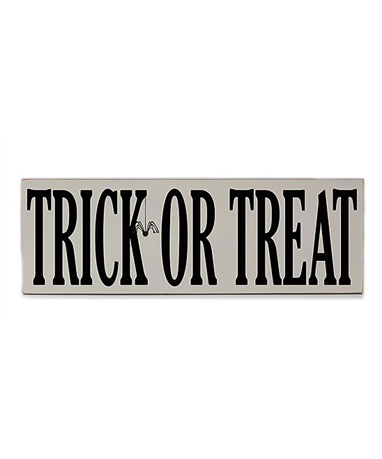 Cream 'Trick or Treat' Wall Sign | zulily