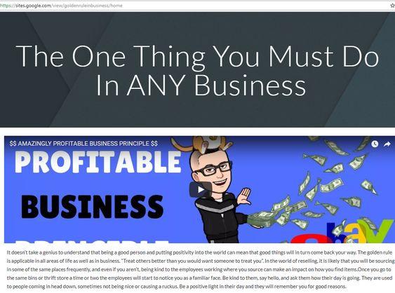 AMAZINGLY PROFITABLE BUSINESS PRINCIPLE