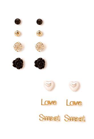 Sweet Love Stud Set | FOREVER 21 - 1000107893 #F21Crush