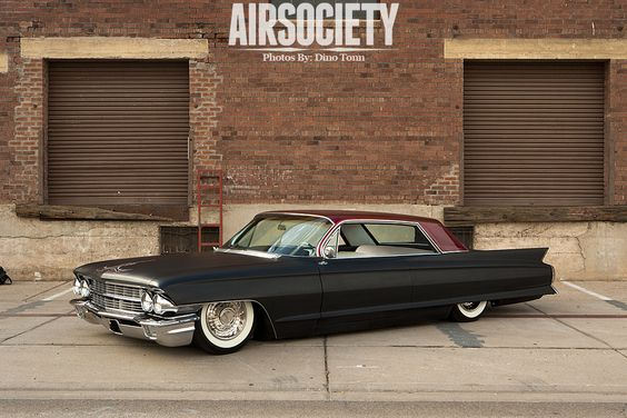 1962 Cadillac Coupe Devile Bagged Air Ride Suspension 001
