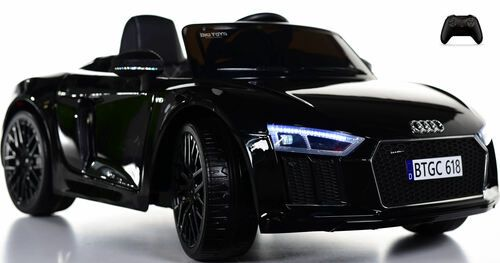 Audi R8 Spyderkids Ride On Car W Leather Seat Rubber Tires Black In 2021 Kids Ride On Toys Kids Ride On Ride On Toys