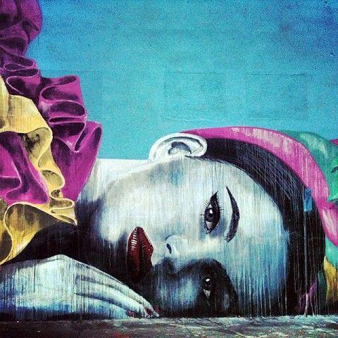 RONE New Mural @ San Francisco, USA. Kinda reminds me of Cheryl Cole