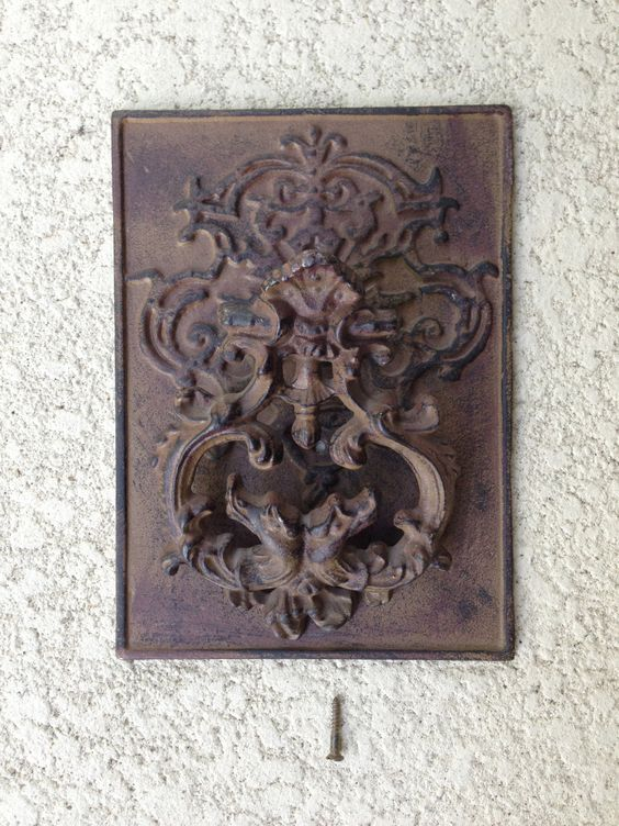 Antique Door Knocker Cast Iron, Door Adornment, Door Embellish. by Roses4Her on Etsy