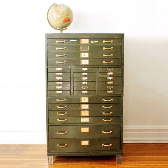 1930s Industrial Catalog Cabinet