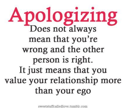 Apologizing means...