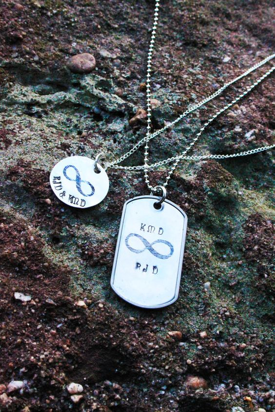 Personalized His & Hers Infinity Necklace Set... only $22: