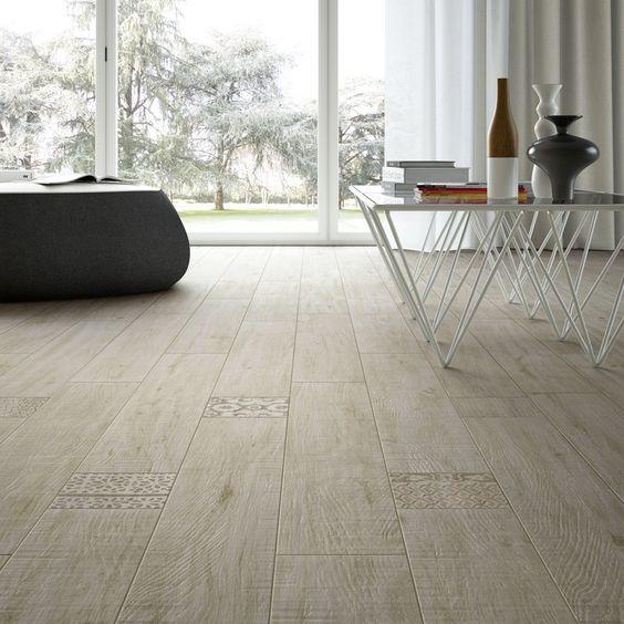 Pavimento/rivestimento in gres porcellanato smaltato effetto legno ...