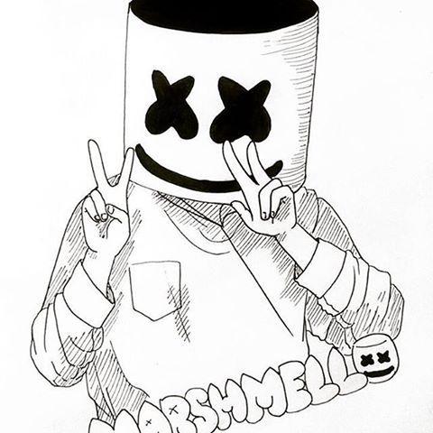Resultado De Imagen Para Marshmello Imagenes De Marshmello Dibujos De Marshmello Dibujos