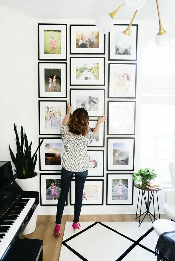 I Realized Most Gallery Wall Layouts Hurt My Brain They Just Look Messy But I Have So Much Of My Diy Apartment Decor Wall Decor Living Room Asian Home Decor