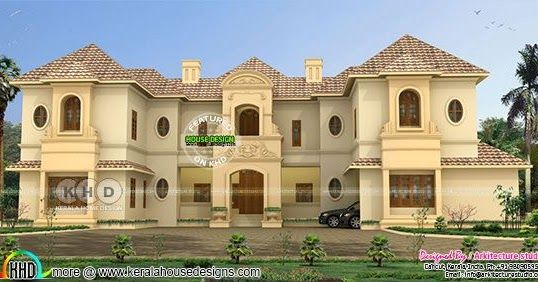 Super Luxury Colonial Home With 8 Bhk Colonial House Luxury House Plans Kerala House Design