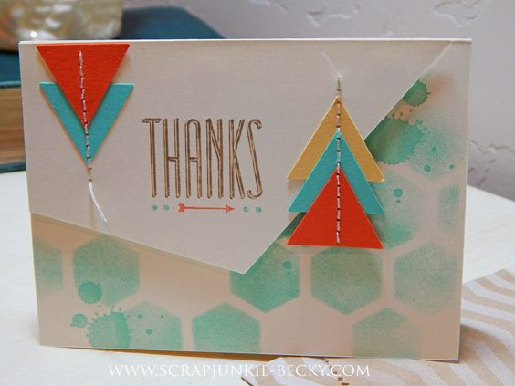 Love the fun angles on this card.