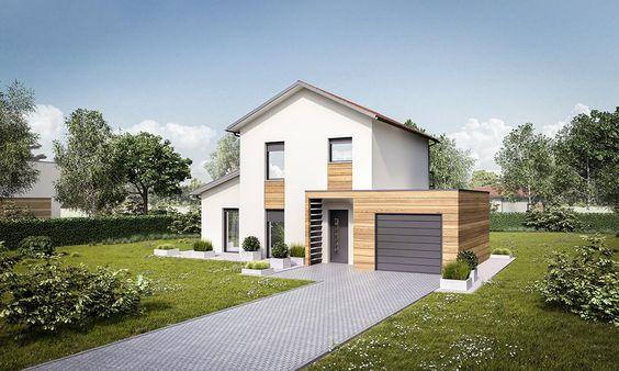 Maison contemporaine à étage à conception bioclimatique | Constructeur de maisons Agen & Toulouse | Mètre Carré