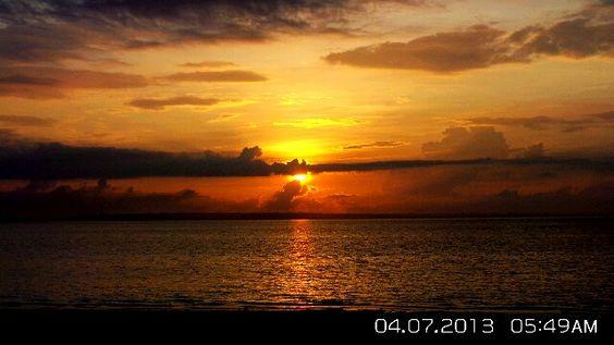 Beautiful sunrise at Bantayan Island, Cebu , Philippines