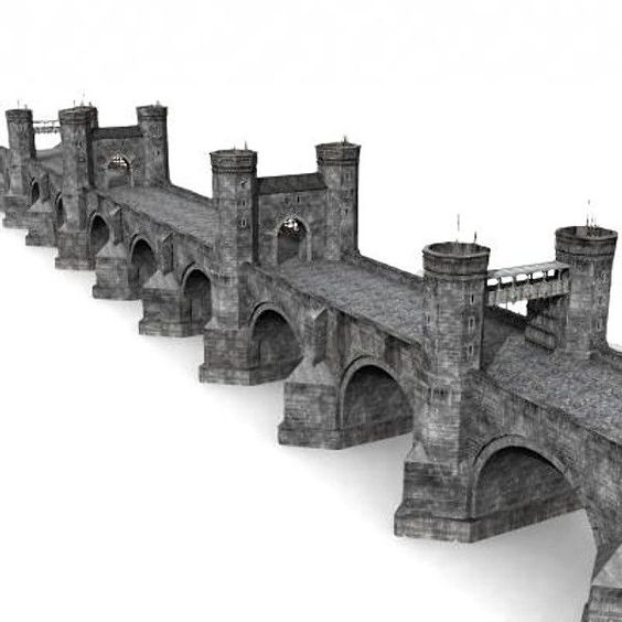 3d medieval bridge model - Bridge by Medievalworlds from TurboSquid.com:
