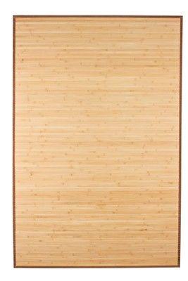 Bamboo Floor Rug Light Natural 4' x 6' - Bamboo Rugs - Bamboo Products $60 free shipping
