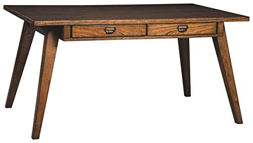 Wood Dining Table With Tapered Legs Dining Table With 4 Drawers
