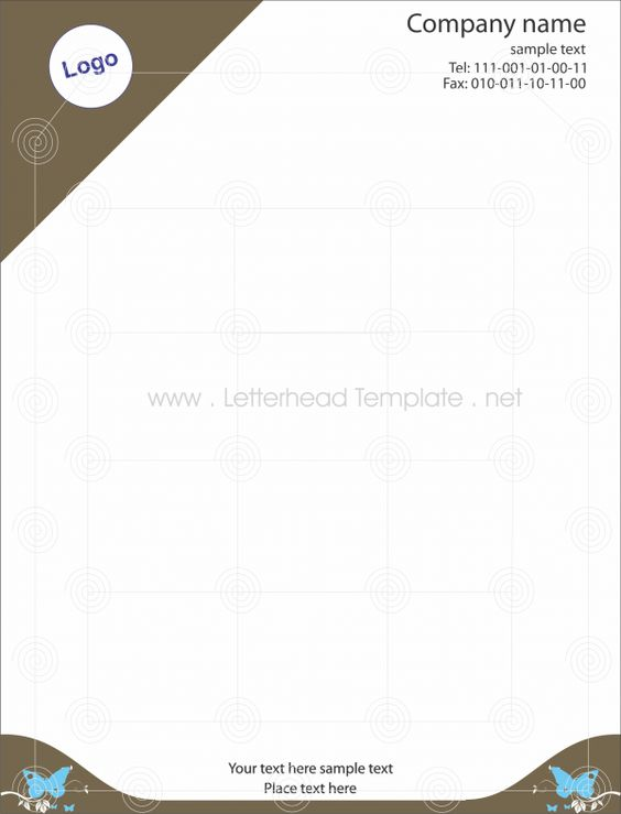 Butterfly letterhead template Preview Places to Visit - letterhead sample