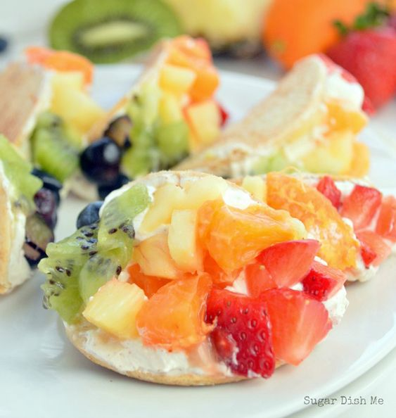 fruit tacos healthy cream cheese fruit dip