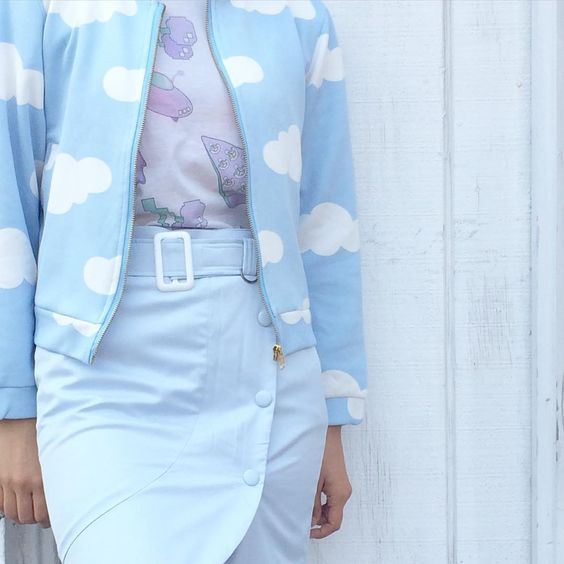 Cloud Jacket Koko UFo tee ✨ be my bae pencil skirt www.kokopiecoco.com