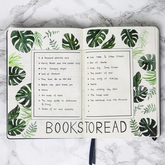 Un journal de lecture dans votre Bullet Journal