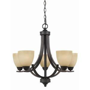 illumine value 5-light english bronze chandelier with antiqued