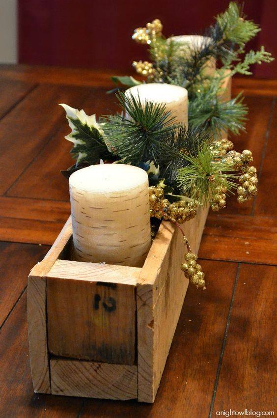 M diy pallet wood centerpiece box beautiful