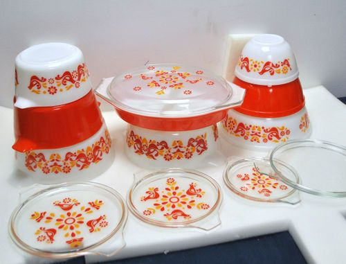 Details about VINTAGE PYREX ALL FRIENDSHIP BIRDS,NESTING,MIXING ...