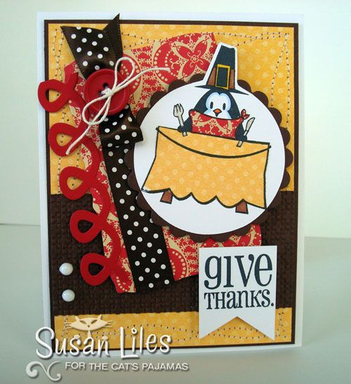 Bright and fun Thanksgiving card.