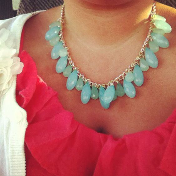 Mint necklace. New fav!