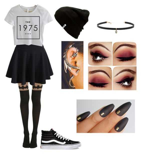 """My style"" by maggsxix on Polyvore featuring Vans, WithChic and Carbon & Hyde"