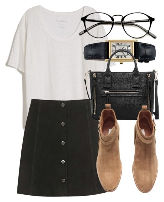 Untitled #4414 by laurenmboot on Polyvore featuring polyvore, moda, style, Fine Collection, Topshop, H&M, MANGO and Seiko: