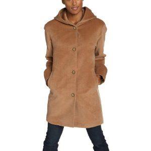 Jones New York Women's Petite Single Breasted Relaxed Coat, Camel, 10 Petite (Apparel)