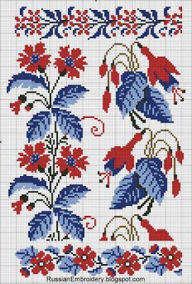 """Старинные схемы для вышивания: Цветочные орнаменты от Т-ва """"А.Сиу и Ко"""""""