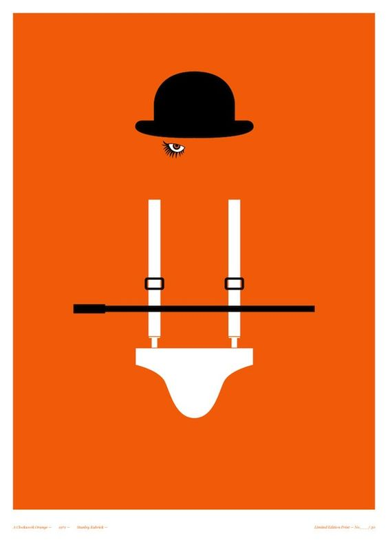 A Clockwork Orange - Clever Posters of Classic Horror Films - My Modern Metropolis