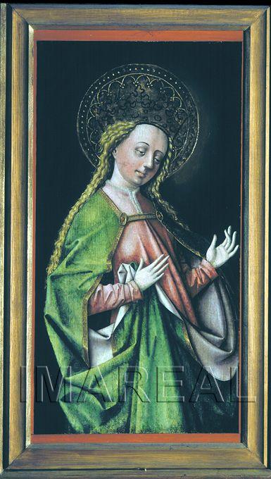 Hl. Barbara; Weibliche Heilige 1480-1500; Bad Goisern; Österreich; Oberösterreich; Pfarrkirche Hl. Martin  http://tarvos.imareal.oeaw.ac.at/server/images/7017979.JPG