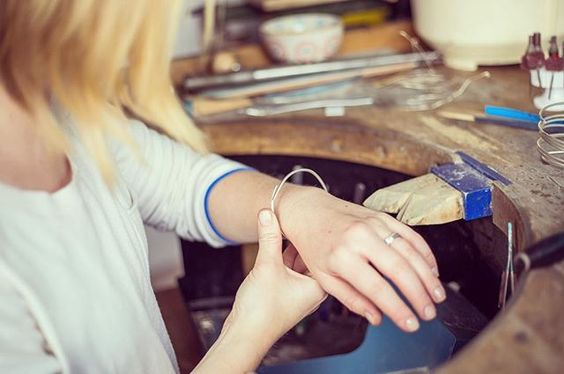 Working on some new pieces today... Jewellery workshop, silversmith, designer. Handmade silver jewelry, small business.