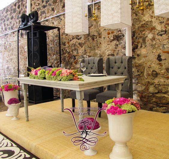 Mesa de novios con sillones gris capitoneado deco chair - Sillones estilo vintage ...