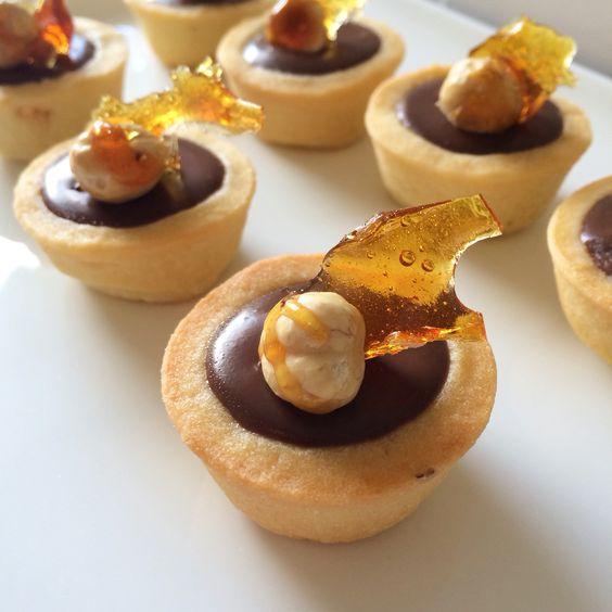 Choc hazelnut tartlets  #edwardjamesfinefoods
