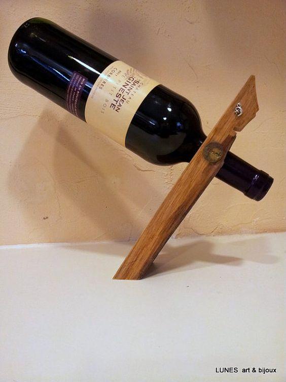 Singola francese riciclato rovere vino portabottiglia di Lunes