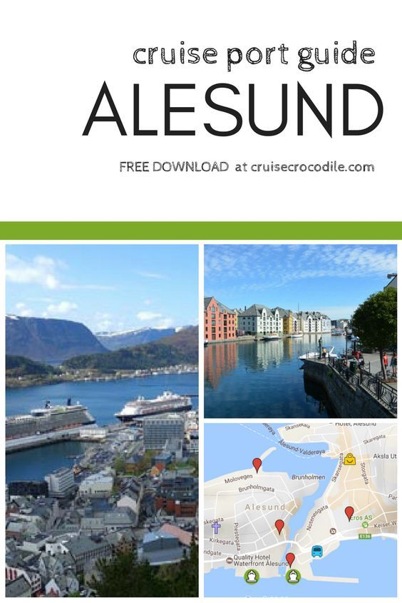 Cruise port guide ålesund norway by cruise crocodile.